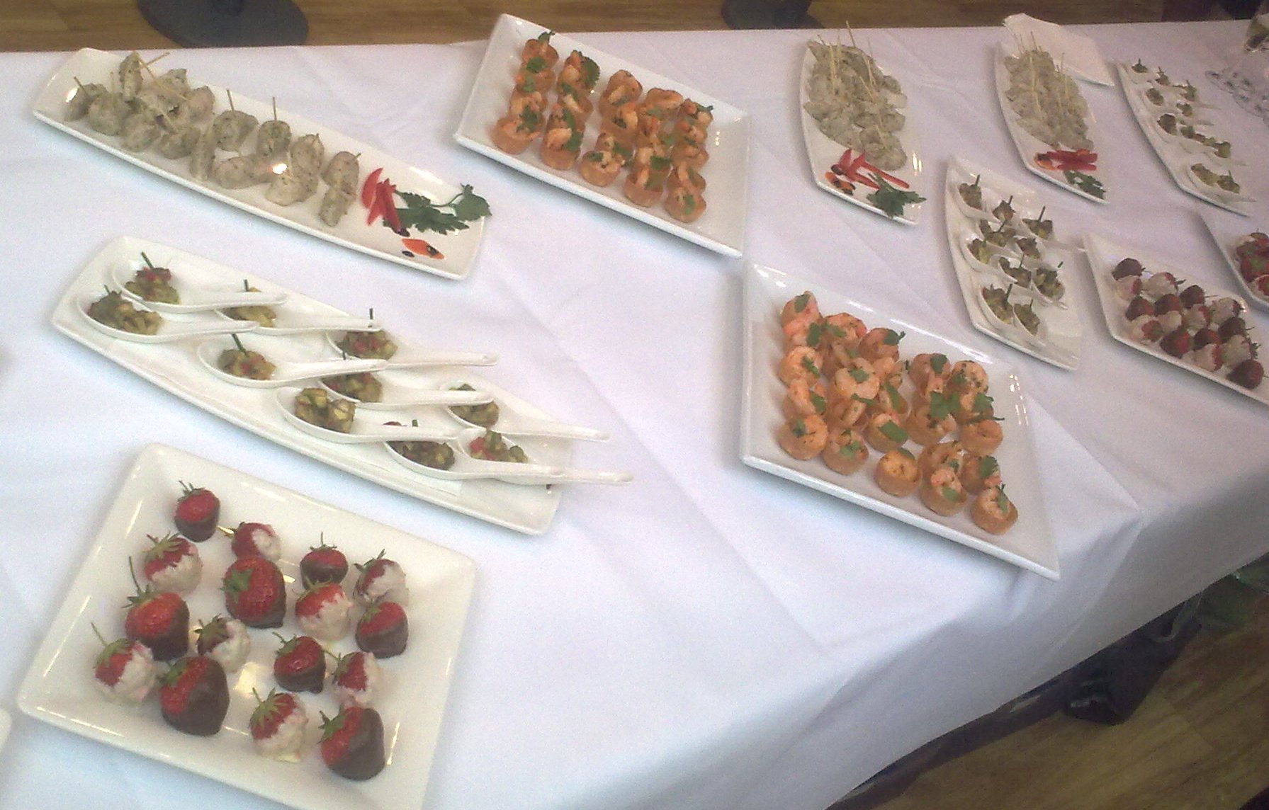 Sample canape menu for any hospitality function canape for Canape party menu