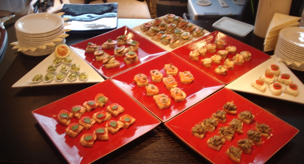 Sample canape menu for any hospitality function canape for Canape kitchen