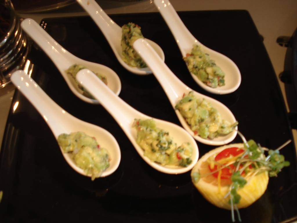Avocado with Red Chilli, Shallots and Lemon Juice for St. James's London Catering