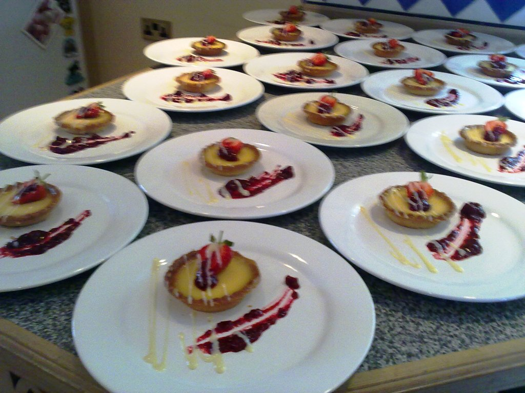 Glazed Lemon Tart with Raspberry Compote