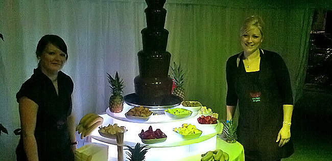 Chocolate Fountain for College Ball